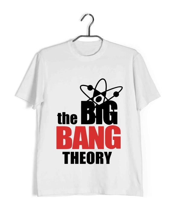 White  TV Series The Big Bang Theory TBBT SERIES LOGO Custom Printed Graphic Design T-Shirt for Men
