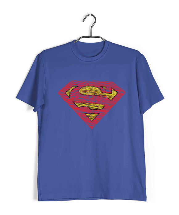 Royal Blue  TV Series The Big Bang Theory TBBT FADED SUPERMAN Custom Printed Graphic Design T-Shirt for Men