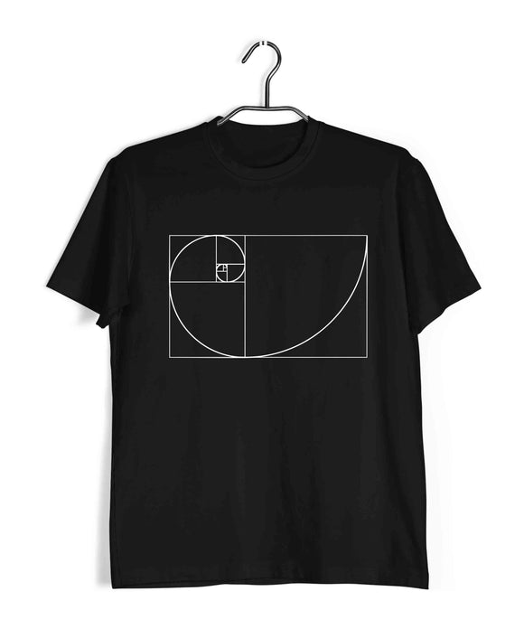 Black  TV Series The Big Bang Theory TBBT FIBONACCI SERIES Custom Printed Graphic Design T-Shirt for Men