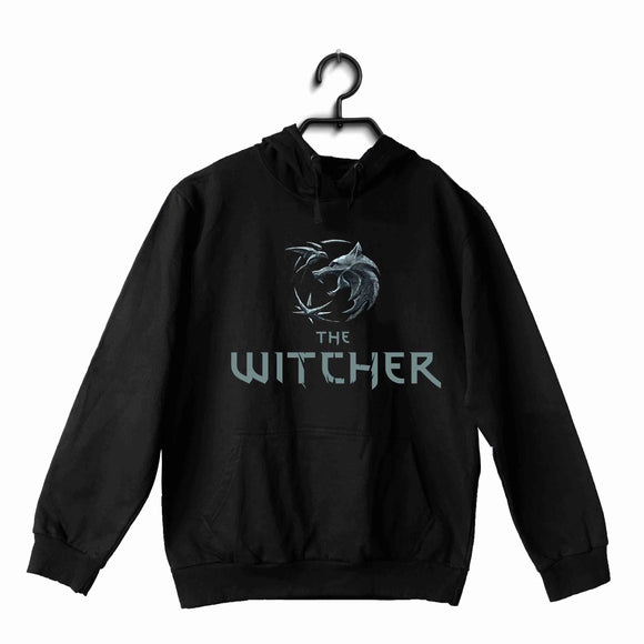 Black  TV Series Video Games The Witcher WOLF UNISEX HOODIE Sweatshirts
