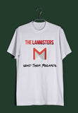 TV Series Games of Thrones (GOT) Lannister Regards Custom Printed Graphic Design T-Shirt for Men - Aaramkhor