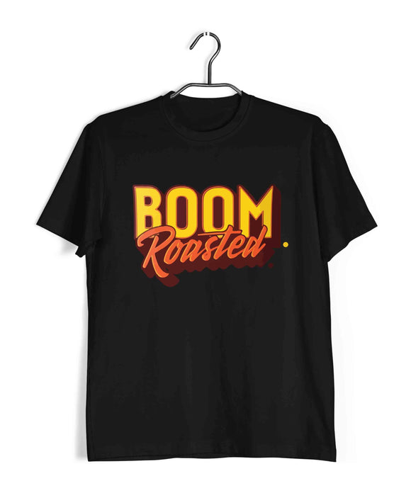 Black  TV Series The Office BOOM. ROASTED Custom Printed Graphic Design T-Shirt for Men
