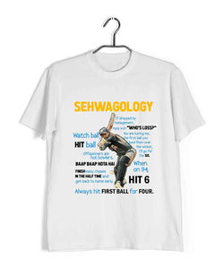 Cricket Team India Sehwagology Custom Printed Graphic Design T-Shirt for Men - Aaramkhor