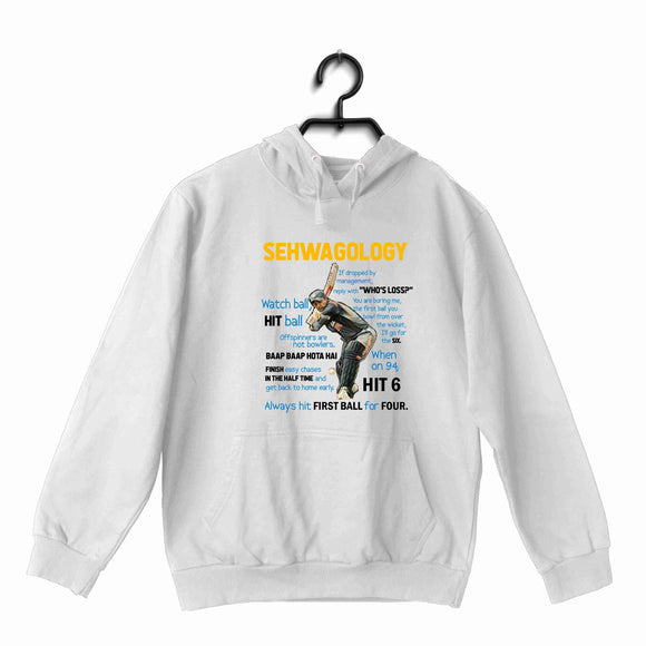 Cricket Team India Sehwagology UNISEX HOODIE Sweatshirts - Aaramkhor