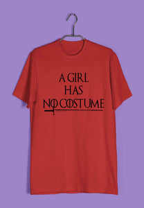 TV Series Funny Games of Thrones (GOT) A Girl Has No Costume Custom Printed Graphic Design T-Shirt for Men - Aaramkhor