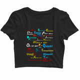 TV Series Friends Friends A-Z Custom Printed Graphic Design Crop Top T-Shirt for Women - Aaramkhor