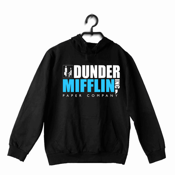Black  TV Series The Office DUNDER MIFFIN UNISEX HOODIE Sweatshirts