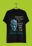 TV Series Games of Thrones (GOT) Team Night King Custom Printed Graphic Design T-Shirt for Women - Aaramkhor
