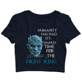 TV Series Games of Thrones (GOT) Team Night King Custom Printed Graphic Design Crop Top T-Shirt for Women - Aaramkhor