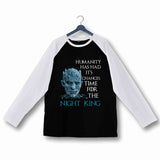 TV Series Games of Thrones (GOT) Team Night King Custom Printed Graphic Design Raglan T-Shirt for Women - Aaramkhor