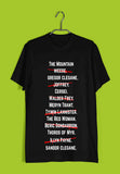 TV Series Games of Thrones (GOT) ARYA STARK'S LIST Custom Printed Graphic Design T-Shirt for Men - Aaramkhor