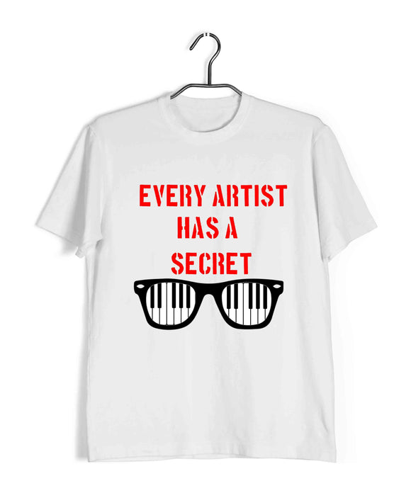 Movies T-Shirts of The Year Bollywood Andhadhun Prop - rabbit, piano Custom Printed Graphic Design T-Shirt for Men - Aaramkhor