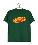 Dark Green  TV Series Seinfeld SEINFELD - IN LOGO FORMAT Custom Printed Graphic Design T-Shirt for Men