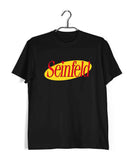Black  TV Series Seinfeld SEINFELD - IN LOGO FORMAT Custom Printed Graphic Design T-Shirt for Men