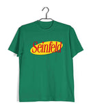 Light Green  TV Series Seinfeld SEINFELD - IN LOGO FORMAT Custom Printed Graphic Design T-Shirt for Men