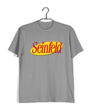 Light Grey  TV Series Seinfeld SEINFELD - IN LOGO FORMAT Custom Printed Graphic Design T-Shirt for Men
