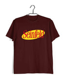 Maroon  TV Series Seinfeld SEINFELD - IN LOGO FORMAT Custom Printed Graphic Design T-Shirt for Men