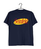 Navy Blue  TV Series Seinfeld SEINFELD - IN LOGO FORMAT Custom Printed Graphic Design T-Shirt for Men