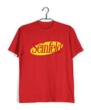 Red  TV Series Seinfeld SEINFELD - IN LOGO FORMAT Custom Printed Graphic Design T-Shirt for Men