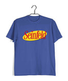 Royal Blue  TV Series Seinfeld SEINFELD - IN LOGO FORMAT Custom Printed Graphic Design T-Shirt for Men