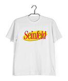 White  TV Series Seinfeld SEINFELD - IN LOGO FORMAT Custom Printed Graphic Design T-Shirt for Men