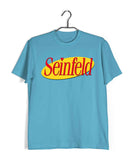 Sky Blue  TV Series Seinfeld SEINFELD - IN LOGO FORMAT Custom Printed Graphic Design T-Shirt for Men