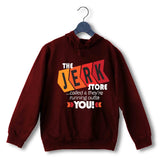 Maroon  TV Series Seinfeld THE JERK STORE CALLED. THEY'RE RUNNING OUT OF YOU UNISEX HOODIE Sweatshirts
