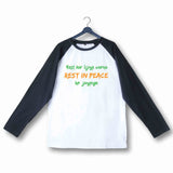 TV Series T-Shirt for Womens of The Year Mirzapur Rest kar lijiye warna Rest in peace ho jayenge Custom Printed Graphic Design Raglan T-Shirt for Women - Aaramkhor