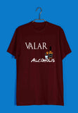 Aaramkhor Specials TV Series Funny Games of Thrones (GOT) Valar Alcoholis Custom Printed Graphic Design T-Shirt for Men - Aaramkhor