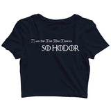 Games of Thrones (GOT) TV Series Breaking Bad Hodor Knock Custom Printed Graphic Design Crop Top T-Shirt for Women - Aaramkhor