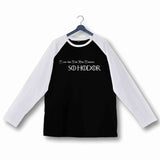 Games of Thrones (GOT) TV Series Breaking Bad Hodor Knock Custom Printed Graphic Design Raglan T-Shirt for Women - Aaramkhor