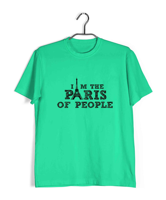 Light Green  TV Series Brooklyn-99 I am the Paris of People Custom Printed Graphic Design T-Shirt for Men
