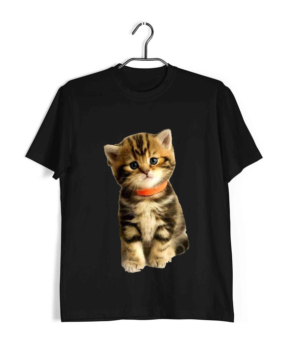 Black Pets Cute Kitten Cats Cat Image Custom Printed Graphic Design T-Shirt for Women