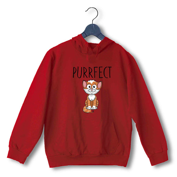 Red Pets Aaramkhor Specials Cats Purrfect UNISEX HOODIE Sweatshirts