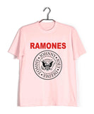Pink  Music Ramones BAND LOGO Custom Printed Graphic Design T-Shirt for Men