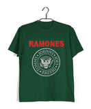 Dark Green  Music Ramones BAND LOGO Custom Printed Graphic Design T-Shirt for Men