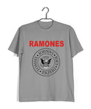 Light Grey  Music Ramones BAND LOGO Custom Printed Graphic Design T-Shirt for Men
