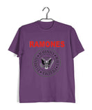 Purple  Music Ramones BAND LOGO Custom Printed Graphic Design T-Shirt for Men