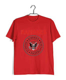Red  Music Ramones BAND LOGO Custom Printed Graphic Design T-Shirt for Men