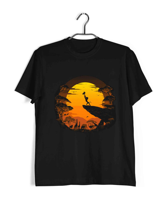 Black  Hollywood Lion King CLASSIC PORTRAIT Custom Printed Graphic Design T-Shirt for Men