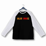 TV Series Games of Thrones (GOT) VALAR UNAGIS Custom Printed Graphic Design Raglan T-Shirt for Women - Aaramkhor
