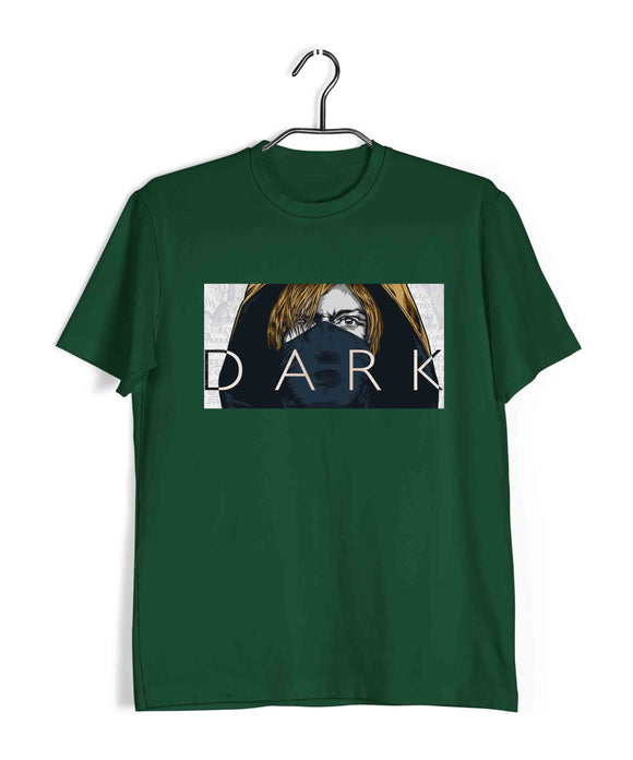 Dark Green  TV Series Dark JONAS DARK ART Custom Printed Graphic Design T-Shirt for Women
