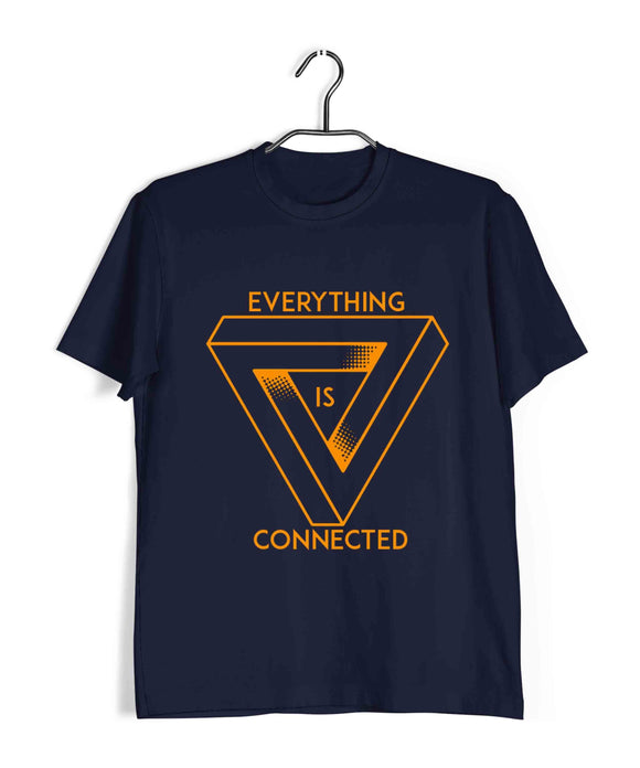 Navy Blue  TV Series Dark Everything is Connected Penrose Triangle Custom Printed Graphic Design T-Shirt for Women