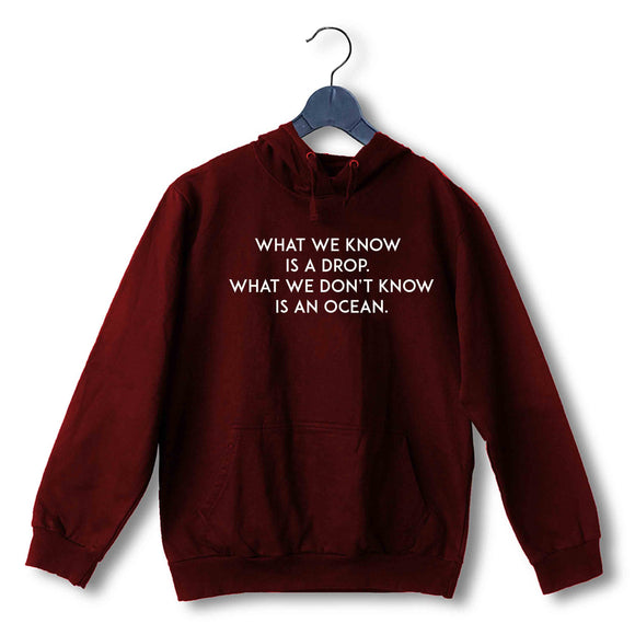 Maroon  TV Series Dark What we know is a drop. UNISEX HOODIE Sweatshirts
