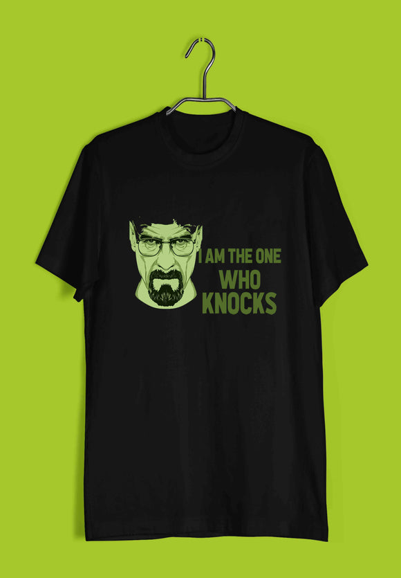 TV Series Breaking Bad I am the One Who Knocks Custom Printed Graphic Design T-Shirt for Men - Aaramkhor