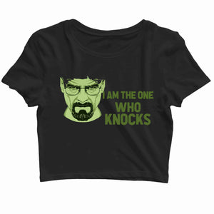 TV Series Breaking Bad I am the One Who Knocks Custom Printed Graphic Design Crop Top T-Shirt for Women - Aaramkhor