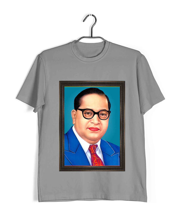 Light Grey  Politics Freedom Ambedkar CLASSIC PORTRAIT Custom Printed Graphic Design T-Shirt for Men