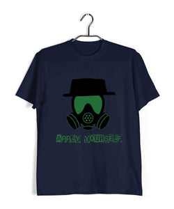 TV Series Breaking Bad Apply Yourself Custom Printed Graphic Design T-Shirt for Men - Aaramkhor
