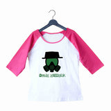 TV Series Breaking Bad Apply Yourself Custom Printed Graphic Design Raglan T-Shirt for Women - Aaramkhor