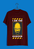 TV Series Breaking Bad I am the Danger Custom Printed Graphic Design T-Shirt for Men - Aaramkhor